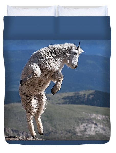 Duvet Cover featuring the photograph Jump by Gary Lengyel