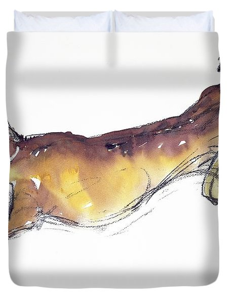Jumping Hare Duvet Cover