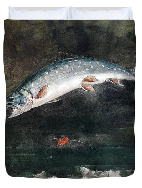 Jumping Trout Duvet Cover