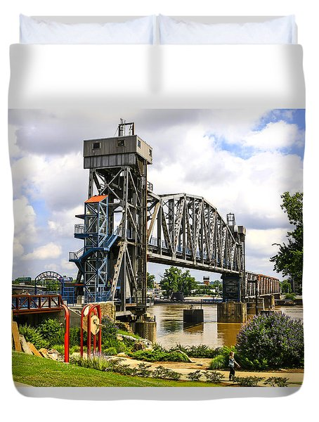 Junction Bridge Little Rock Duvet Cover
