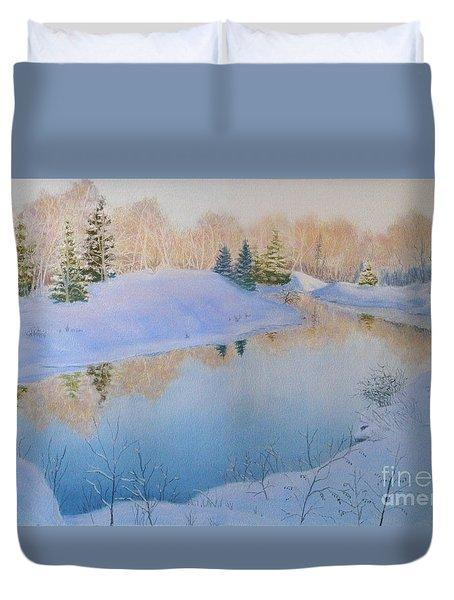 Junction Creek Duvet Cover by Lynn Quinn
