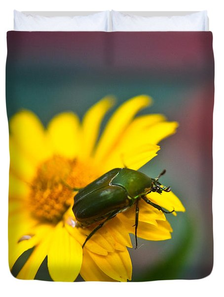 June Beetle Duvet Cover