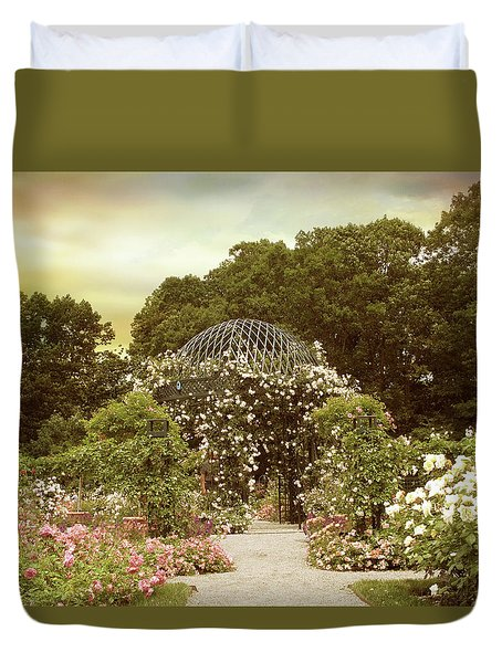 June Bloom Duvet Cover by Jessica Jenney