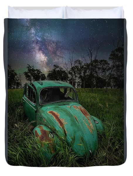 Duvet Cover featuring the photograph June Bug by Aaron J Groen