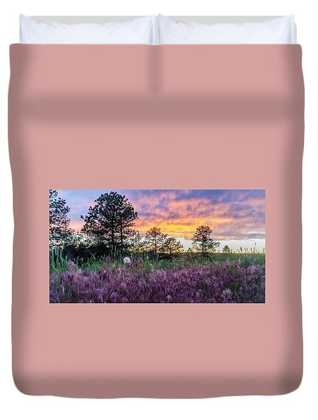 June Color At The Rimrocks Duvet Cover