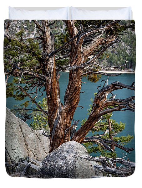 June Lake Juniper Duvet Cover