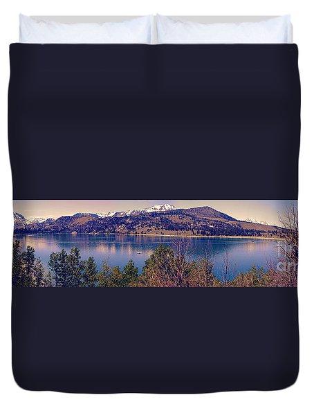 June Lake Panorama Duvet Cover