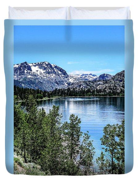 June Lake Portrait Duvet Cover