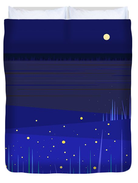 June Nights   Duvet Cover by Val Arie