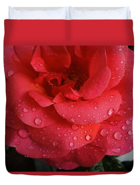 June  Rose  Duvet Cover