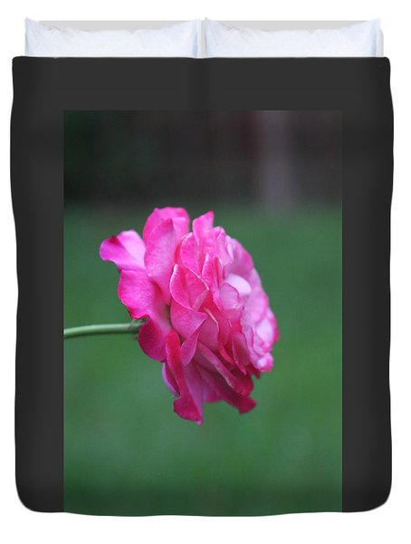 Duvet Cover featuring the photograph June Rose by Vadim Levin