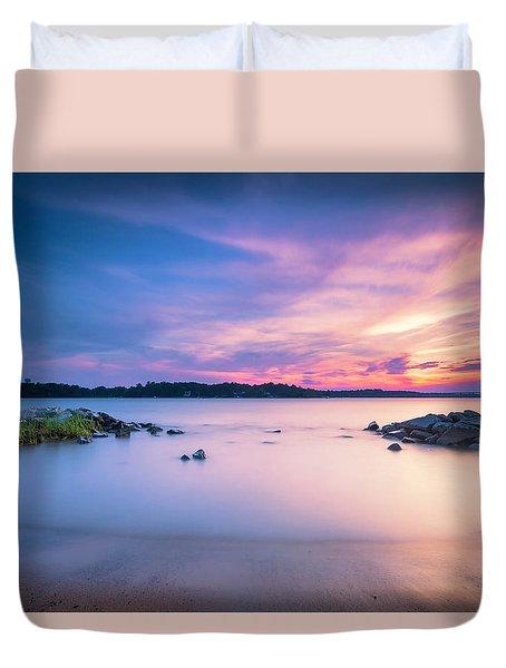 June Sunset On The River Duvet Cover