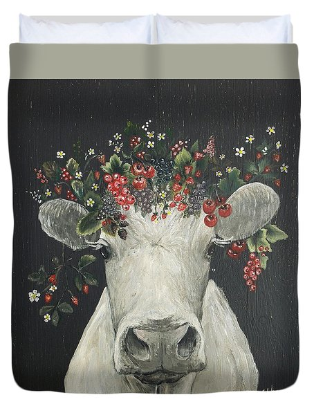 June The Berry Cow Duvet Cover