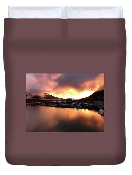 Juneau Sunset Duvet Cover