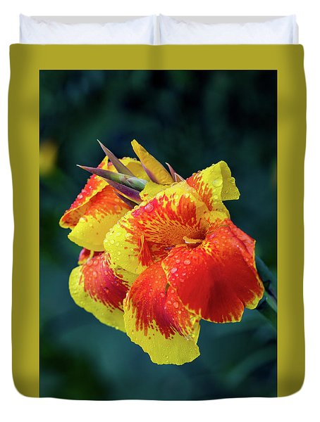 Jungle Flowers Duvet Cover