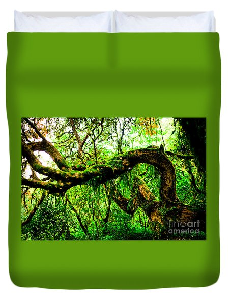 Jungle Forest Himalayas Mountain Nepal Duvet Cover