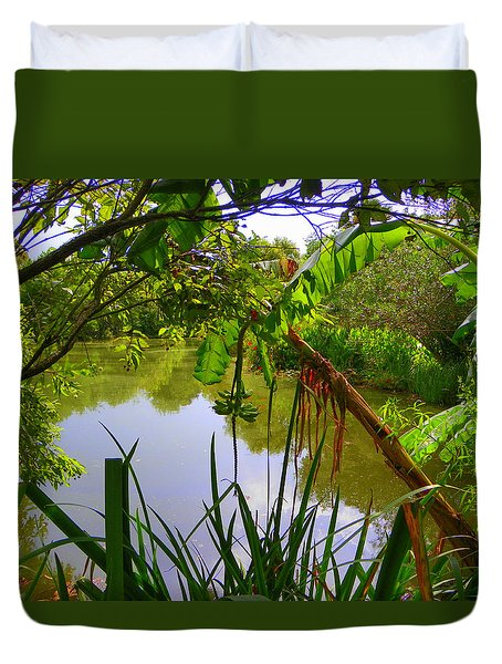Jungle Garden View Duvet Cover