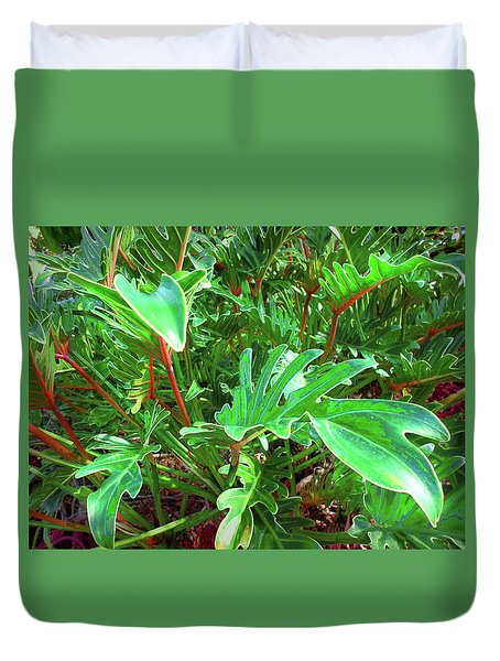 Jungle Greenery Duvet Cover