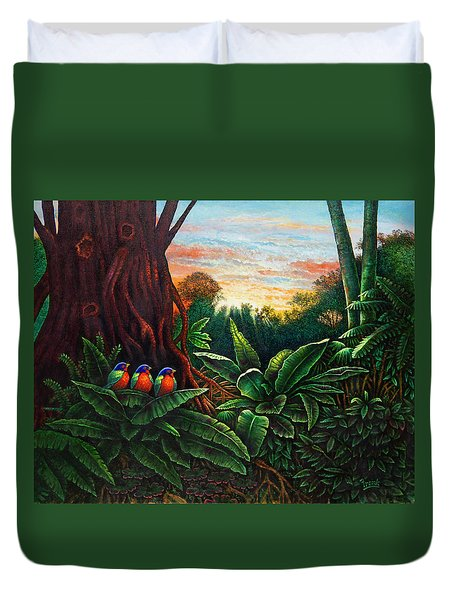 Jungle Harmony 3 Duvet Cover