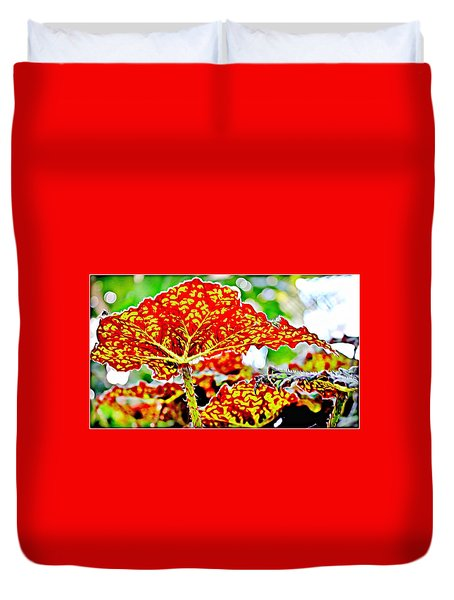 Duvet Cover featuring the photograph Jungle Leaf by Mindy Newman