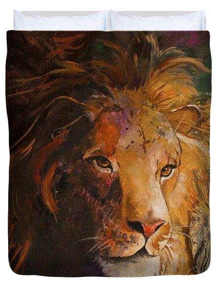 Jungle Lion Duvet Cover