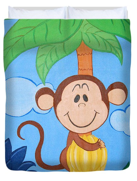 Jungle Monkey Duvet Cover