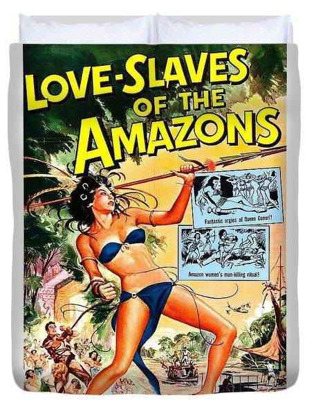 Jungle Movie Poster 1957 Duvet Cover