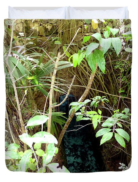 Duvet Cover featuring the photograph Jungle Stream by Francesca Mackenney