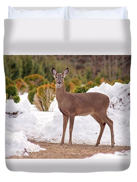 Duvet Cover featuring the photograph Junior by Angel Cher