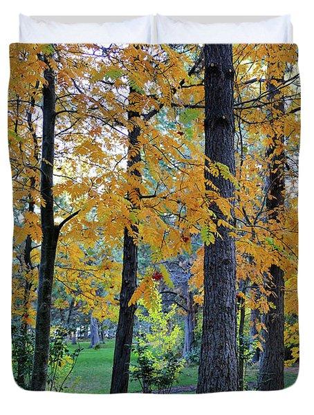 Mountain Ash Under Pine Duvet Cover
