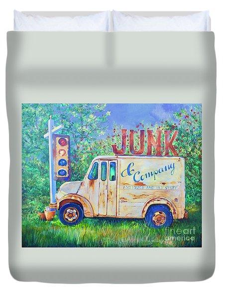 Junk Truck Duvet Cover