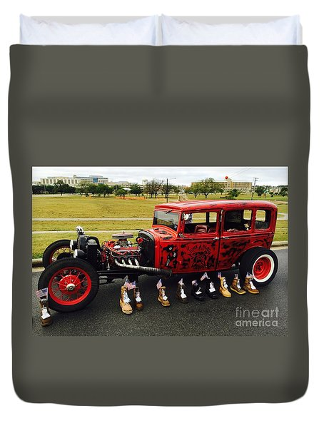 Duvet Cover featuring the photograph Junk Yard Dawg - No.2015 by Joe Finney
