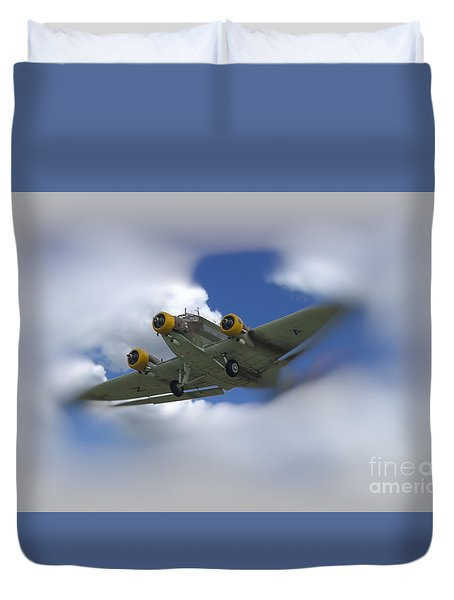 Junker Ju 52/3 Tri-motor Duvet Cover by JRP Photography