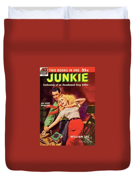 Duvet Cover featuring the painting Junkie by Al Rossi