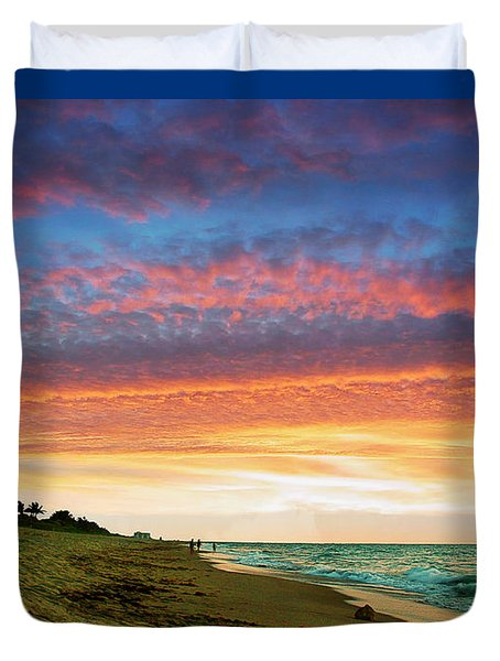 Juno Beach Florida Sunrise Seascape D7 Duvet Cover by Ricardos Creations