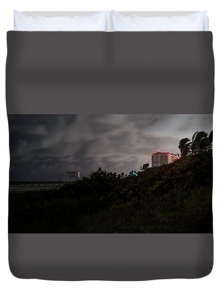 Duvet Cover featuring the photograph Juno Beach by Laura Fasulo
