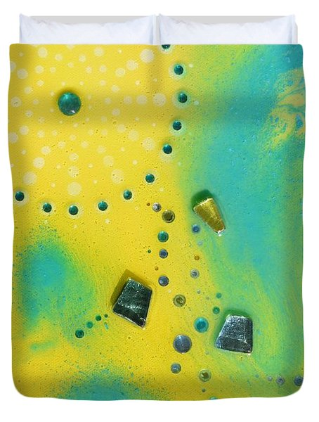 Jupiter Blue Duvet Cover