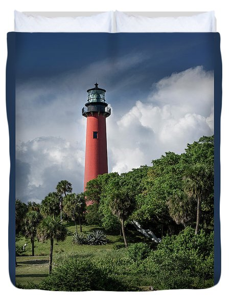 Jupiter Inlet Lighthouse Duvet Cover
