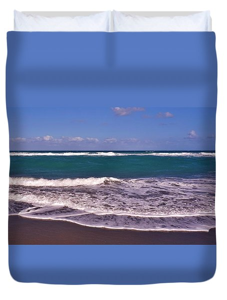 Jupiter Island Beach Duvet Cover by John Wartman