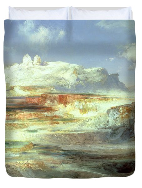 Jupiter Terrace Duvet Cover by Thomas Moran