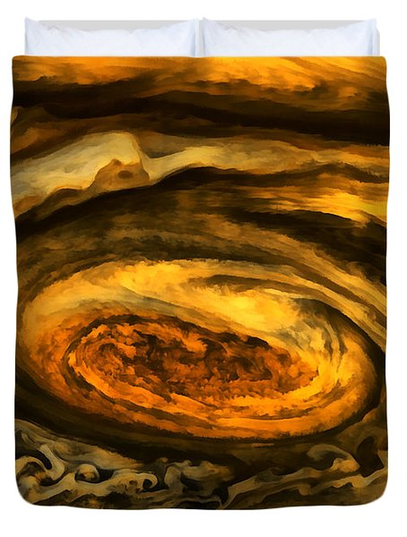 Jupiter's Storms. Duvet Cover