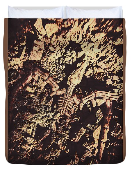 Jurassic Grave Duvet Cover