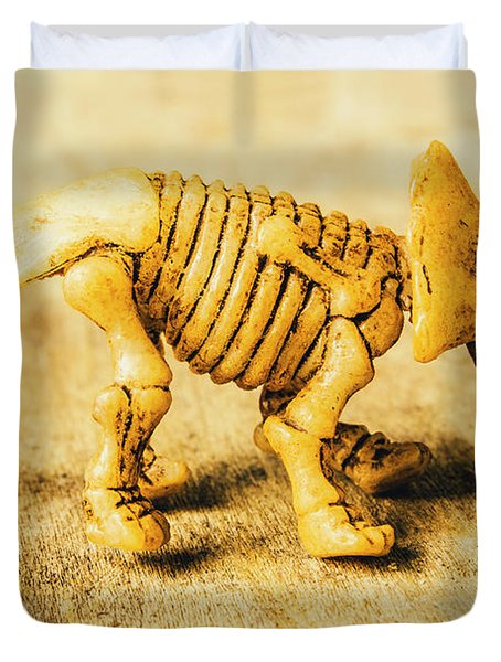 Jurassic Toy Triceratops Duvet Cover