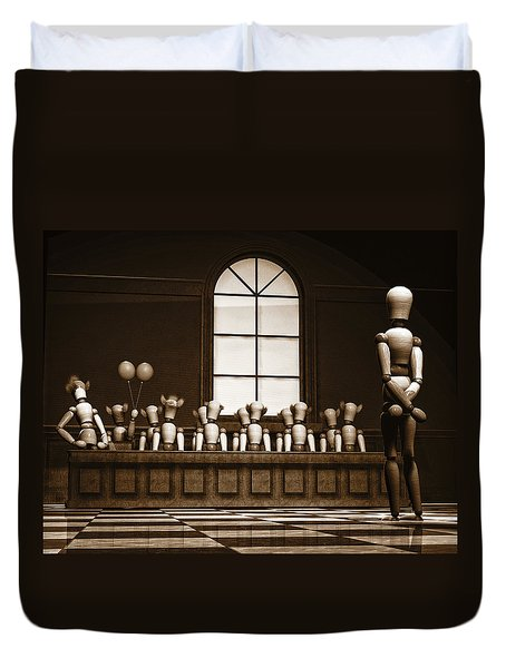 Jury Of Your Peers Duvet Cover by Bob Orsillo