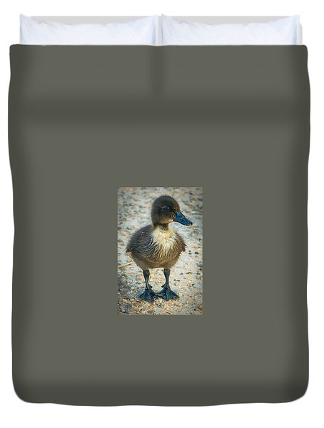 Duvet Cover featuring the photograph Just A Baby by Michael Sussman