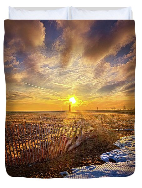 Duvet Cover featuring the photograph Just A Bit More To Go by Phil Koch