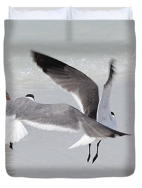 Just A Day At The Beach Jdabp Duvet Cover