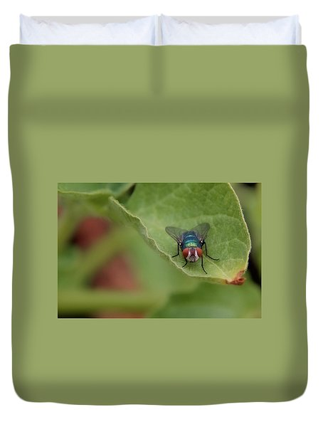 Duvet Cover featuring the photograph Just A Fly by Scott Holmes