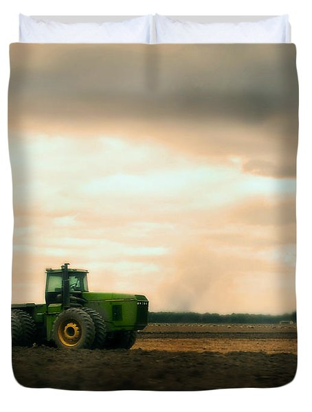 Just A John Deere Memory Duvet Cover by Janie Johnson