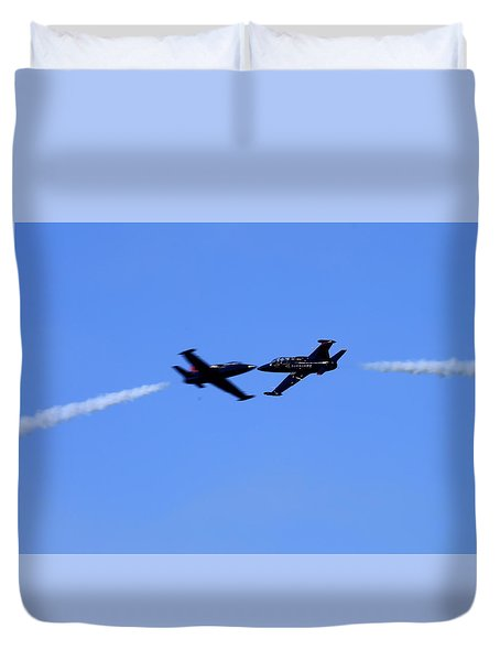 Duvet Cover featuring the photograph Just A Kiss by John King
